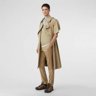 Burberry Slim Fit Icon Stripe Detail Cotton Chinos