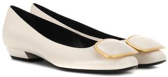 Roger Vivier Vertigo leather ballerinas