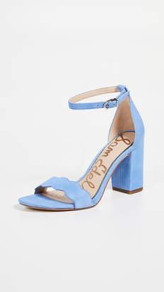 5293c4bddeb Sam Edelman Blue Block Heel Women s Sandals - ShopStyle