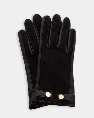 Ted Baker SSUE Suede detail leather gloves