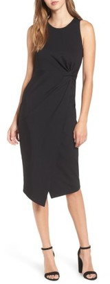 Women's Leith Knot Front Sheath Dress $55 thestylecure.com