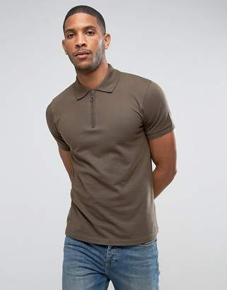 Another Influence Zip Polo Shirt