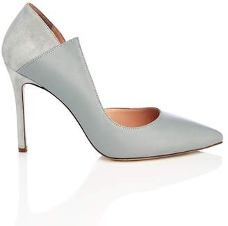 WtR Sculpture Grey Leather Pointed Heels