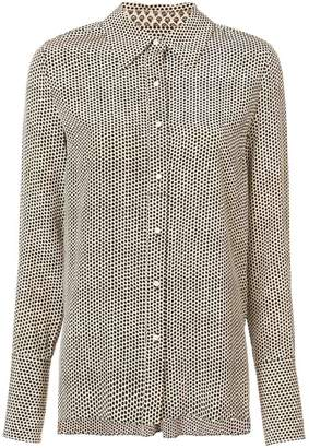 Proenza Schouler Dot Print Crepe De Chine Button Down