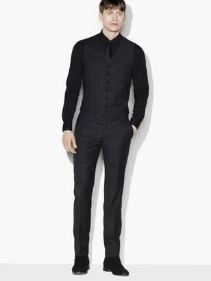 John Varvatos Striped Wool Vest