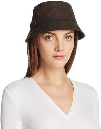 Barbour Cairn Waxed Cotton All-Weather Trench Hat $69 thestylecure.com