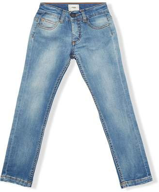 Fendi stonewashed straight-leg jeans