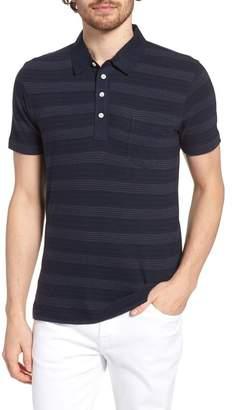 Billy Reid Stripe Cotton & Cashmere Polo Shirt