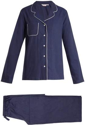Derek Rose Balmoral 3 brushed-cotton pyjamas