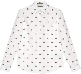 e16ed0da6ab White Gucci Bee Shirt - ShopStyle