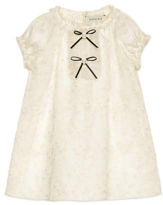 Gucci Baby embroidered silk dress