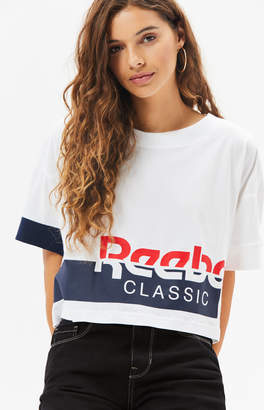 Reebok White AC Cropped T-Shirt