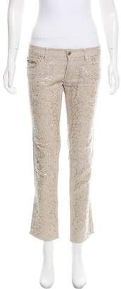Ermanno Scervino Low-Rise Embellished Jeans
