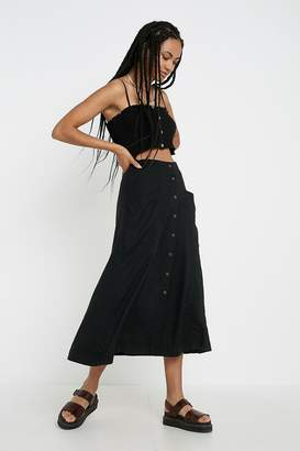 Urban Outfitters Amy Button-Front Midi Skirt