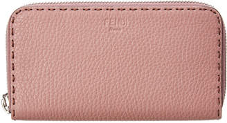 Fendi Leather Zip Around Wallet