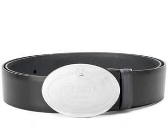 Prada oval buckled belt