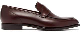 Crockett Jones Hillier Bartley - X Crockett & Jones Lucy Leather Loafers - Womens - Burgundy