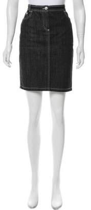 Les Copains Denim Mini Skirt