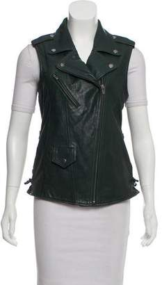 Veda Moto Leather Vest w/ Tags