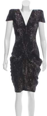 Alexander McQueen Structured Printed Dress