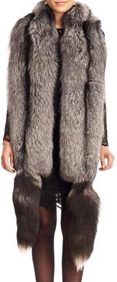 Gorski Fox Fur Boa with Detachable Tails