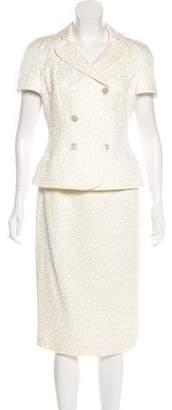 Rena Lange Textured Skirt Suit