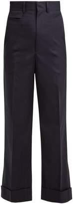 Toga High-rise straight-leg cotton-blend trousers