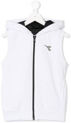 Diadora Junior hooded zip gilet