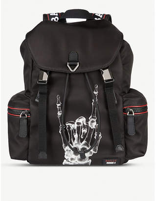Bally Crew X Funk unisex leather backpack