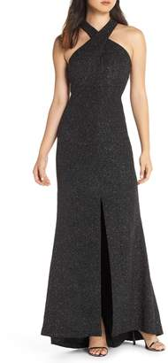 Eliza J Crisscross Neck Gown