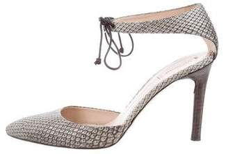 Reed Krakoff Pointed-Toe Snakeskin Pumps