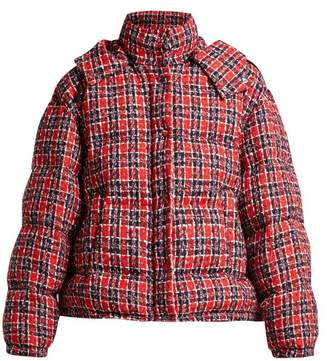 Gucci Down Filled Tweed Jacket - Womens - Red Multi