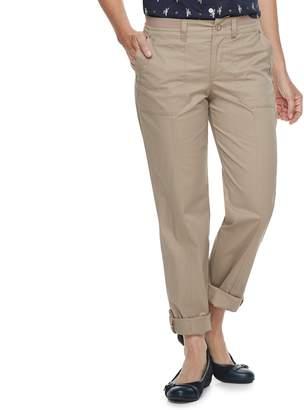 Croft & Barrow Women's Convertible Twill Pants