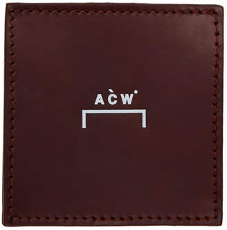 A-Cold-Wall* A Cold Wall* Burgundy Leather Coin Wallet