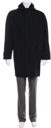 Aquascutum London Hooded Wool Coat