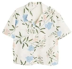 MANGO Camp-collar shirt