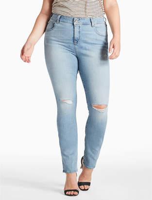 Lucky Brand PLUS SIZE EMMA STRAIGHT LEG JEAN IN BURNET