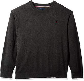 Tommy Hilfiger Men's Big and Tall Sweater Signature Solid Crewneck
