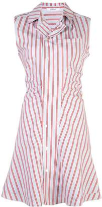 Derek Lam 10 Crosby Sleeveless Ruffle Placket Shirtdress