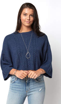 BB Dakota 3/4 Sleeve Cable Knit Pullover