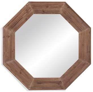 Pottery Barn Wood Octagon Mirror