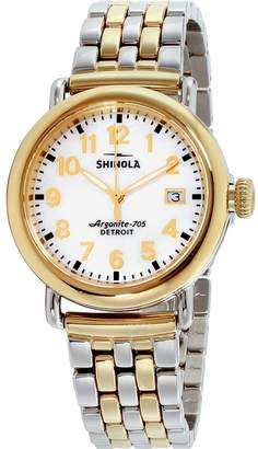 Shinola Women's The Runwell 36mm Two Tone Steel Bracelet Quartz Watch 10000237