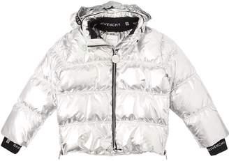 Givenchy Laminated Metallic Nylon Down Jacket