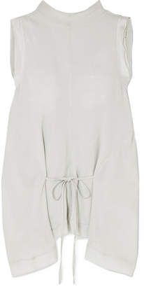 Chloé Draped Georgette Top - Mint