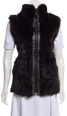 Belle Fare Fur-Accented Wool Vest wool Fur-Accented Wool Vest