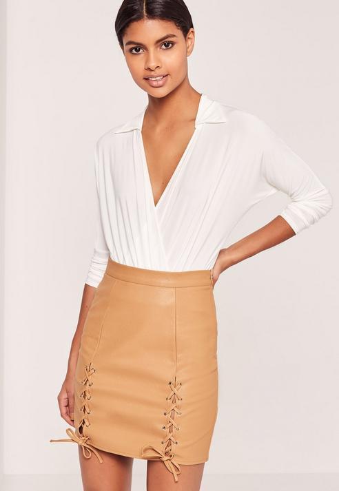 Tan Leather Skirt Australia