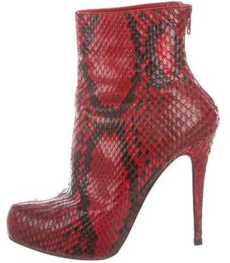 ba6ed04918e Pre-Owned at TheRealReal · Christian Louboutin Snakeskin Pointed-Toe Ankle  Boots