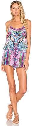 Camilla Shoestring Romper in Pink $430 thestylecure.com