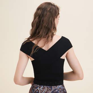 Maje Ribbed knit sleeveless top