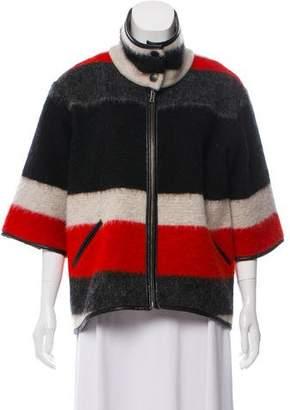 Waverly Grey Striped Wool Jacket